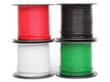 18 Ga. Stranded, High-Temperature PVC Wire, 100 Feet