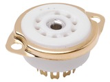 9 Pin Miniature Gold Chassis Mount Socket