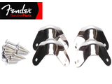 Genuine Fender® Universal Metal Set of 4, 3 Screws Amp Corner Set