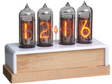 Nixie Clock with 4 IN-14 Tubes - Wood Base